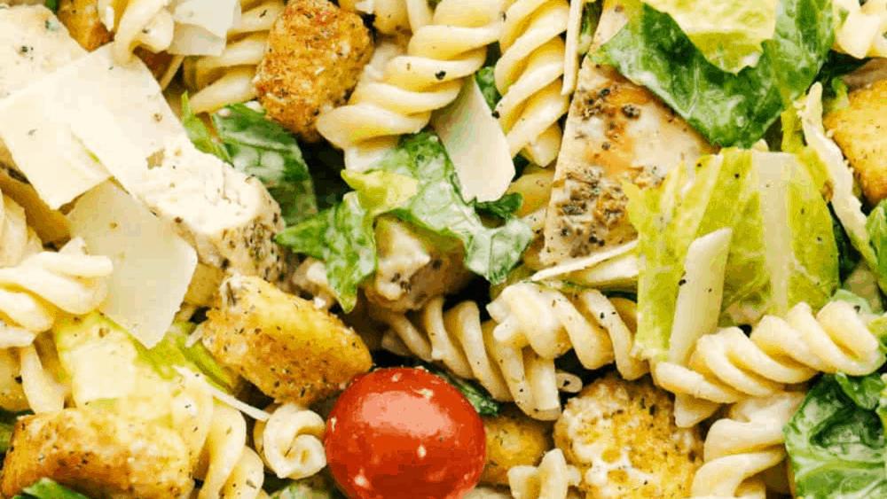 Caesar Pasta Salade Met Kip |  De receptcriticus